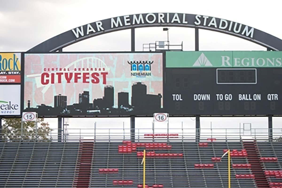 CityFest on jumbotron at War Memorial Stadium